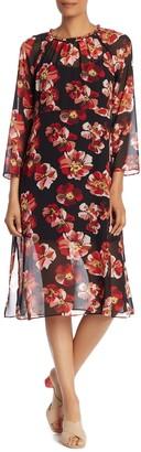 Madewell Floral Long Sleeve Midi Dress (Regular & Plus Size)