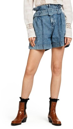 Scotch & Soda High Paperbag Waist Denim Shorts