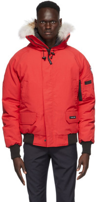 Canada Goose Red Down Chilliwack Bomber Jacket