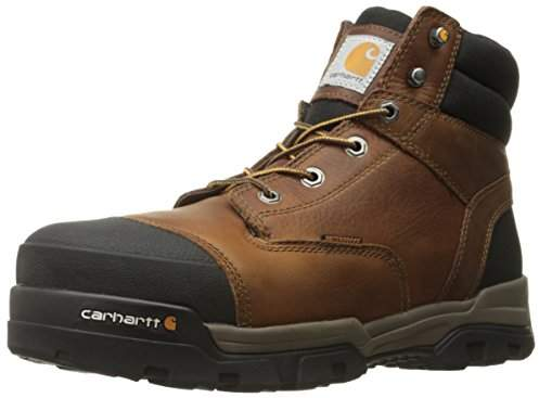 0476ce4e3d4 Men's Ground Force 6-Inch Brown Waterproof Work Boot - Composite Toe