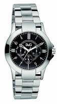 Dolce & Gabbana Men's Texas DW0537 Silver Stainless-Steel Quartz Watch with Dial
