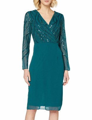 Dorothy Perkins Women's Green Embroidered Wrap Skirt 8