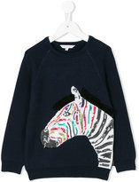 Little Marc Jacobs sequinned zebra sweater - kids - Cotton/Polyester/Cashmere - 4 yrs