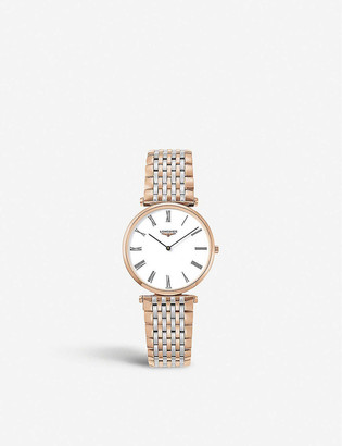 Longines L4.709.1.21.7 La Grande Classique De rose-gold PVD and stainless steel watch