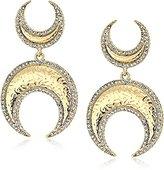 House Of Harlow Gift of Iah Gold Dangle Earrings