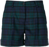 P.A.R.O.S.H. tartan roll up shorts