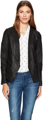 Cupcakes And Cashmere Women's Deva Drape Front Soft Lamb Leather Jacket