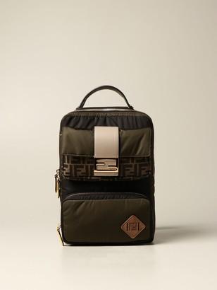 Fendi Nylon Backpack With Baguette Pocket