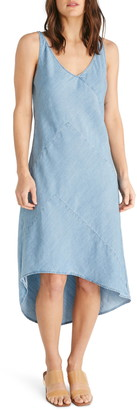 Atica Shanti Chambray High/Low Tank Dress