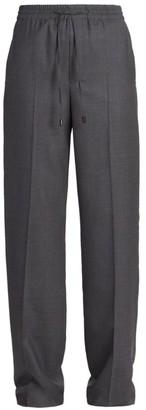 Maison Margiela Wool Flannel Drawstring Waist Trousers