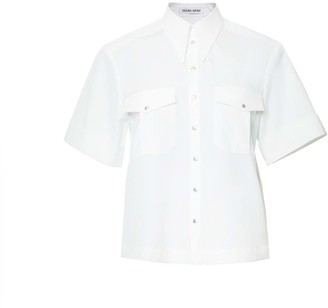 Diana Arno April Short-Sleeved Blouse In Pure White