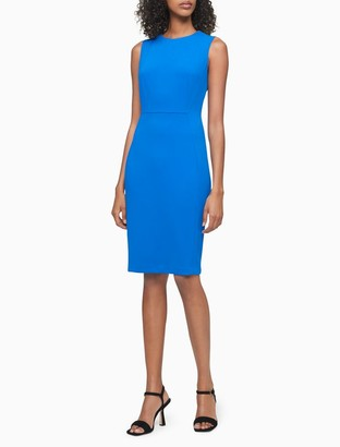 Calvin Klein Solid Sleeveless Sheath Dress