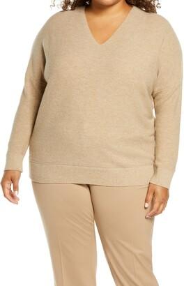 Lafayette 148 New York Wool & Cashmere V-Neck Sweater