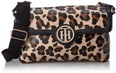 Tommy Hilfiger Leopard Saddle Hobo Bag