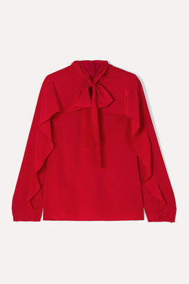 RED Valentino Pussy-bow Silk Crepe De Chine Blouse