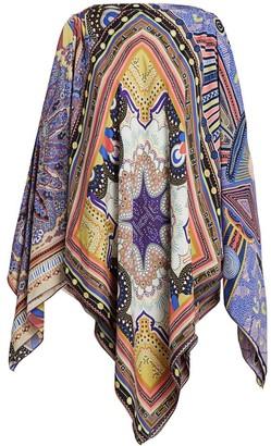 Etro Geometric Paisley Handkerchief Poncho