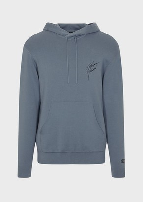 Emporio Armani Sweater With Hood And Signature