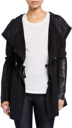 Blanc Noir Traveler Hooded Tie-Waist Jacket