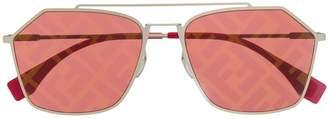 Fendi Eyewear monogram lense sunglasses
