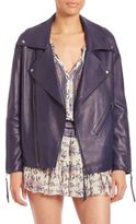 Rebecca Minkoff Brutus Oversized Leather Moto Jacket