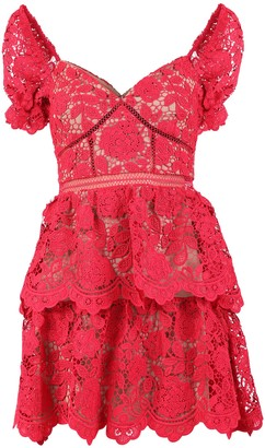 Self-Portrait Floral Lace Dress