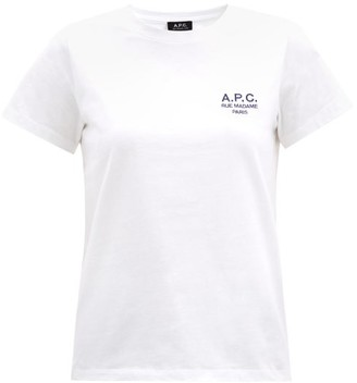 A.P.C. Denise Logo-embroidered Cotton-jersey T-shirt - White
