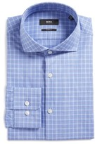 BOSS Men's Mark Slim Fit Plaid Dress Shirt