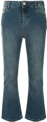 Twin-Set Mid-Rise Bootcut Jeans