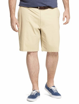 "Izod Men's Big and Tall Saltwater 9.5"" Flat Front Chino Short"