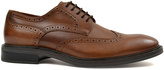 Joseph Abboud Tan Bedford Leather Oxford