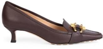 Bottega Veneta Lady Pump Buckle Leather Loafers