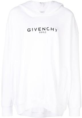 Givenchy oversized logo hoodie