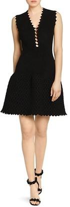 Azzedine Alaia Peek-A-Boo Croisee Sleeveless Knit A-Line Dress