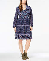 Style&Co. Style & Co Plus Size Printed Peasant Dress, Created for Macy's