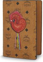 MCM Rooster print passport holder