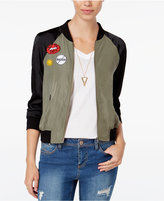 Material Girl Juniors' Patch Bomber Jacket, Only at Macy's