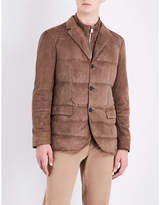 Corneliani Quilted suede gilet jacket