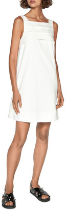 Cue Cotton Dobby Tuck Front Dress