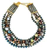 Jose & Maria Barrera Faux Pearl & Crystal Multistrand Necklace
