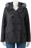 Urban Republic Juniors' Plus Size Wool Blend Jacket