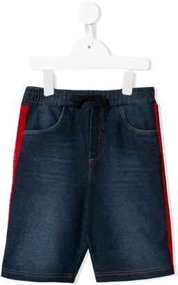 Dolce & Gabbana striped trim denim shorts