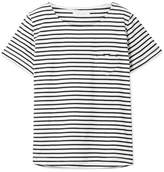 Chinti and Parker Striped Organic Cotton-jersey T-shirt - Navy