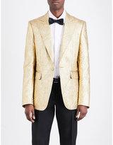 Dsquared2 Regular-fit Gold-leaf Metallic-cloqué Jacket