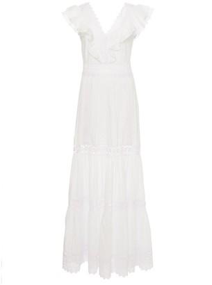 Charo Ruiz Ibiza Aida Ruffle Neck Midi Dress