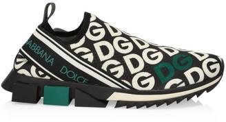 Dolce & Gabbana Sorrento Logo Knit Sneakers