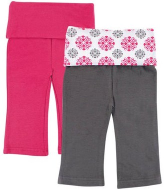 Yoga Sprout Baby Girl Yoga Pants, 2-Pack