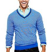 JCPenney jcpTM Cotton/Cashmere Striped Sweater