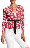 Tracy Reese Print Belted Cardigan