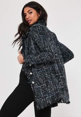 Missguided Black Multi Mock Pearl Boucle Jacket