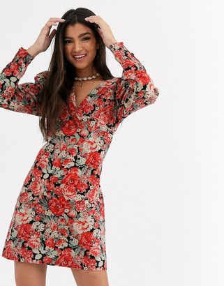 Free People Kapowski printed mini dress